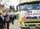 12 TIR yardım malzemesi Suriye'ye gönderildi