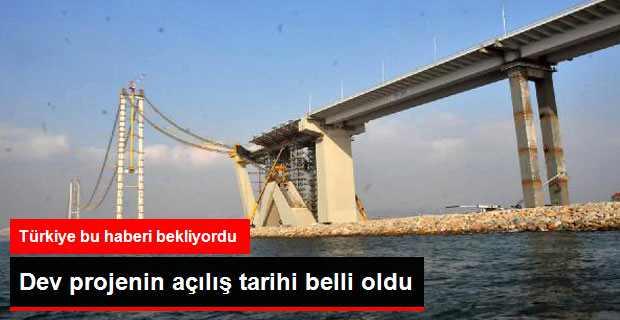 Körfez Geçiş Köprüsü Mart 2016'ta Açılacak