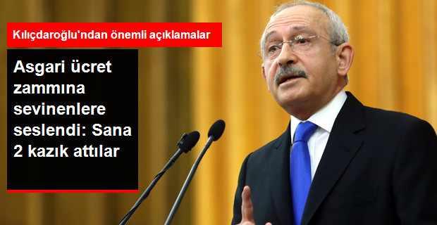 Kılıçdaroğlu Asgari Ücret Zammını Eleştirdi: Vatandaşa İki Kazık Attılar