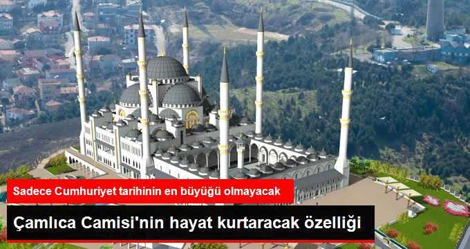 Çamlıca Camii Afet Anında 100 Bin Kişiyi Barındırabilecek