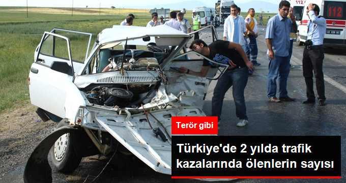 Türkiye'de 2 Bin 296 Kişi Trafik Kazalarında Öldü