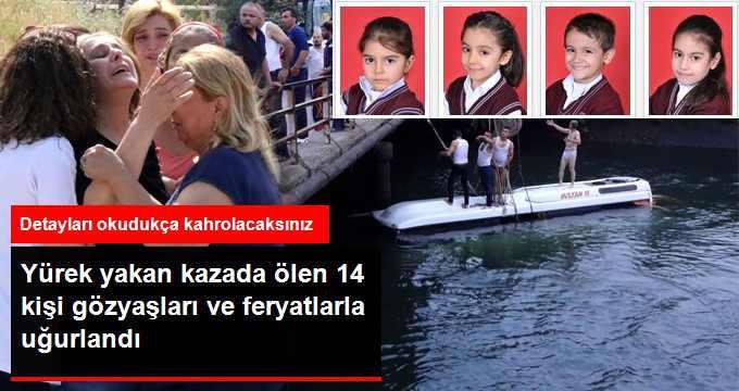 Gezi Dönüşü Can Veren 14 Kişi Toprağa Verildi