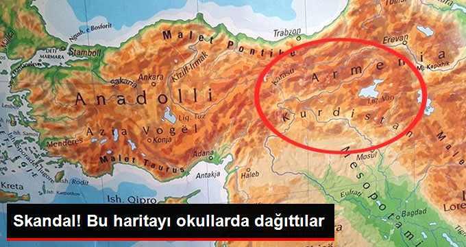 Prizren'de Okullara Dağıtılan 'Türkiye Haritası' Büyük Tepki Çekti!