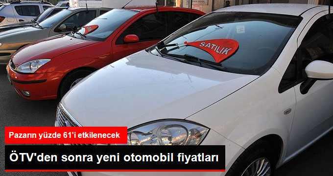 Otomobil Pazarında Satılan Araçların Yüzde 61'i Zamlandı