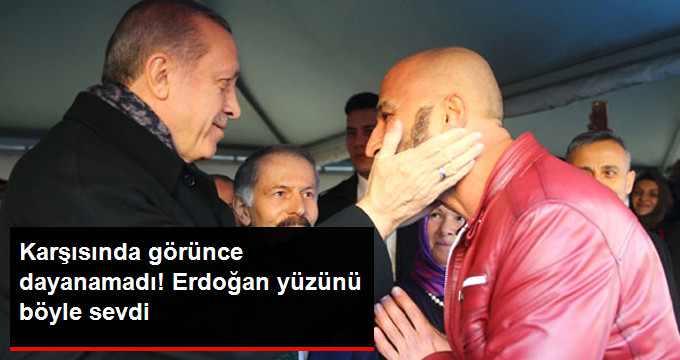 Erdoğan Metin Doğan'ın Yüzünü Böyle Sevdi