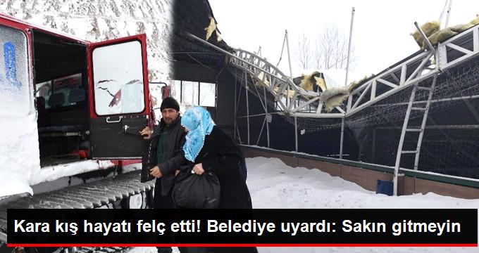 Erzurum'da Kar ve Tipi Hayatı Adeta Felç Etti