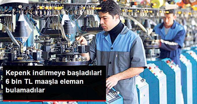 Makine Sanayicileri 6 Bin Lira Maaşa Eleman Bulamıyor