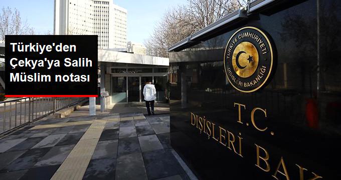 Türkiye'den Çekya'ya Bir Salih Müslim Tepkisi Daha