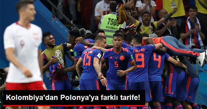 Dünya Kupası H Grubunda Kolombiya Polonya'yı 3-0 Yendi