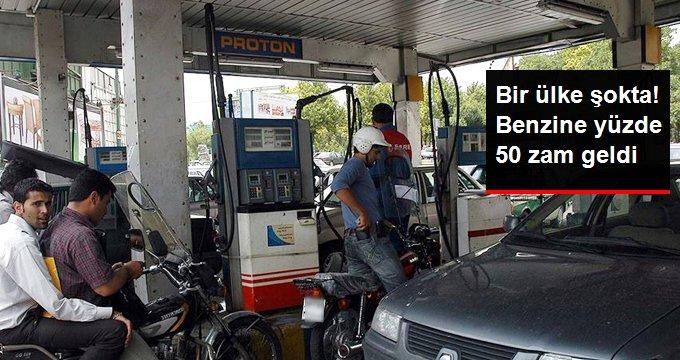 İran'da Benzine Yüzde 50 Zam Geldi