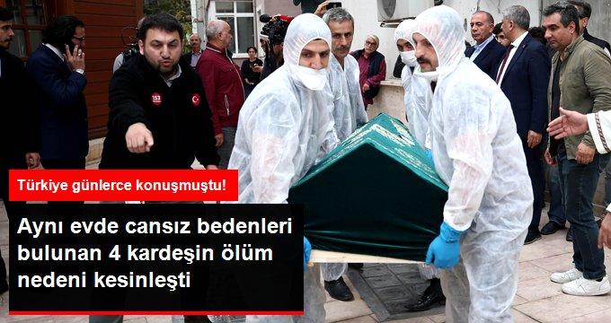 Fatih'te intihar eden 4 kardeşin ölüm nedeni kesinleşti