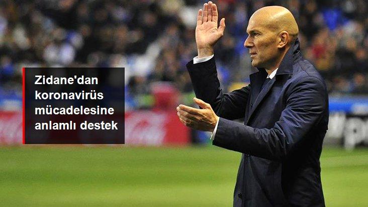 Zidane'den Koranavirüs Mücadelesinde Anlamlı Destek