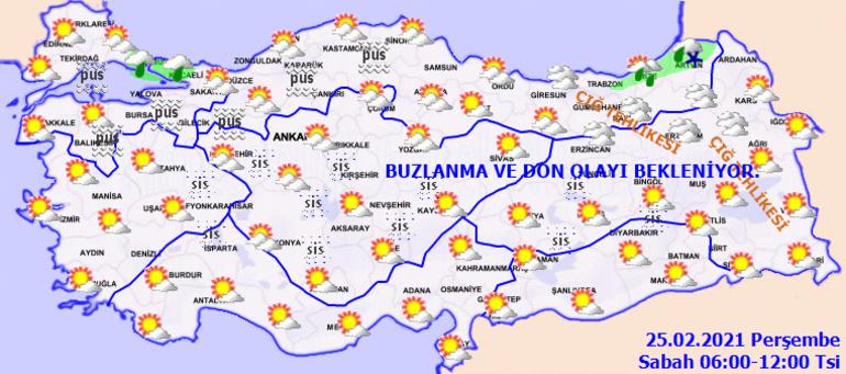 Meteoroloji bölgeleri sıralayarak uyardı İşte son dakika hava durumu raporu